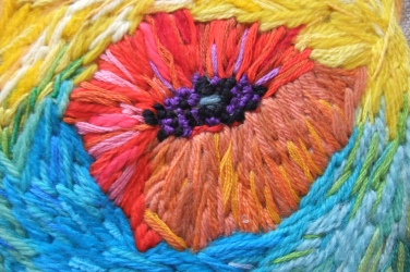 hand embroidery in wool